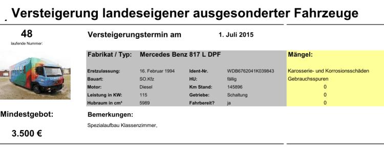 Versteigerung LUM2 2015-07-01